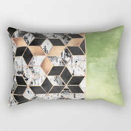 Birch Tree Cubes Rectangular Pillow