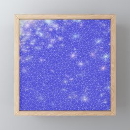 Stardust in Blue Framed Mini Art Print