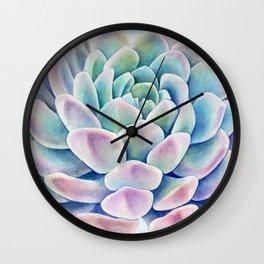 succulent watercolor 11 Wall Clock