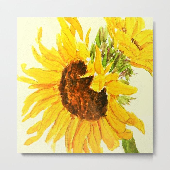 sunflower macro Metal Print