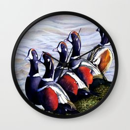 Harlequinn Ducks of LBI Wall Clock
