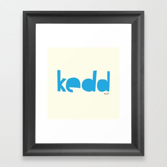 days   kedd Framed Art Print