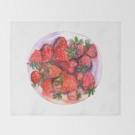 Strawberry fields Throw Blanket