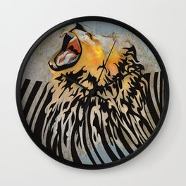 lion barcode Wall Clock
