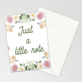 Floral Circle Stationery Cards