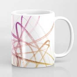 Violet Mulberry Goldenrod Tangled Abstract Coffee Mug