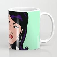 lichtenstein Mugs featuring Lana Lichtenstein by turantuluy