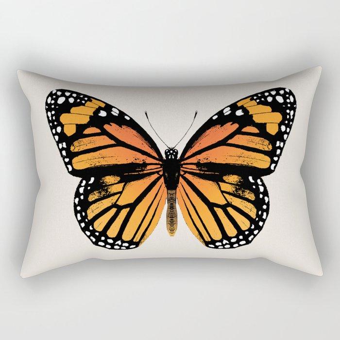 Monarch Butterfly | Vintage Butterfly | Rechteckiges Kissen
