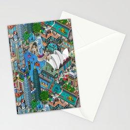 Pixelland Stationery Cards
