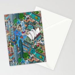 Pixelland Stationery Cards