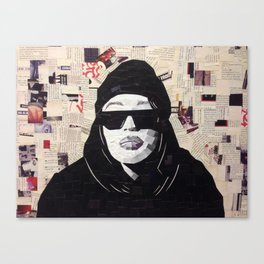 Chopped and Glued - Aaliyah Canvas Print