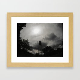 The Water Tower as the Storms roll in Framed Art Print