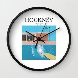 Hockney - A Bigger Splash Wall Clock