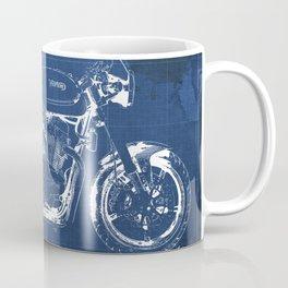 Blueprint, Norton Commando Cafe Racer, original art,bike poster Coffee Mug