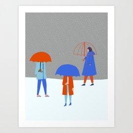 Raining Again Art Print