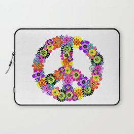Peace Sign of Flowers Laptop Sleeve