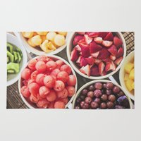 fruit Area & Throw Rugs featuring Fruit by Callen Guidry