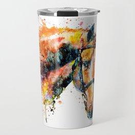 Colorful Horse Head Travel Mug