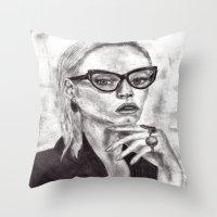 daria Throw Pillows featuring Daria by Yuval Ozery
