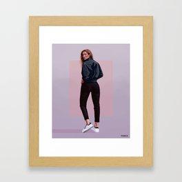 Model Framed Art Print