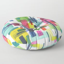 abstract city Floor Pillow