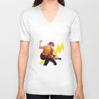 iwatobi V-neck T-shirts featuring Rock shark by Boisson