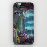 adventure is out there iPhone & iPod Skins featuring Adventure by aokstudios