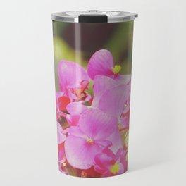 vintage pink flowers. Travel Mug