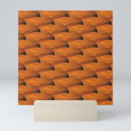 Sunset Waves Orange Mini Art Print