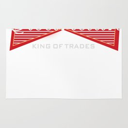 Electrician King of Trades Funny Gift Rug