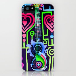 Fusion Keyblade Guitar #184 - Dual Disk & Overdrive iPhone Case