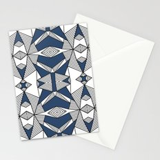 Triangle Tribal #2 Navy Stationery Cards