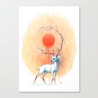 spirit Canvas Prints featuring Spring Spirit by Freeminds