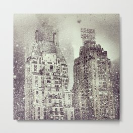 Snow Over the Essex House Metal Print