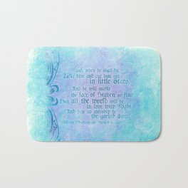 "' Take him and cut him out in little Stars"" Romeo & Juliet - Shakespeare Love Quotes Bath Mat"