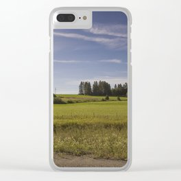 Countryside, on our way to beautiful Gaspésie Clear iPhone Case