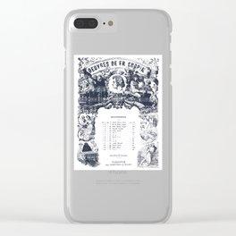 Frederick Chopin Nocturne art Clear iPhone Case