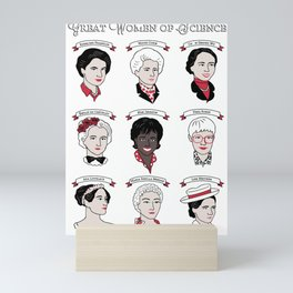 Great Women of Science Mini Art Print