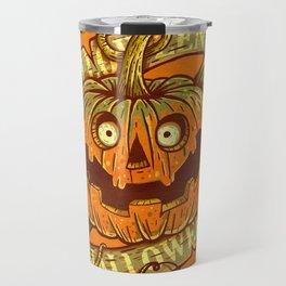 Halloween orange Travel Mug