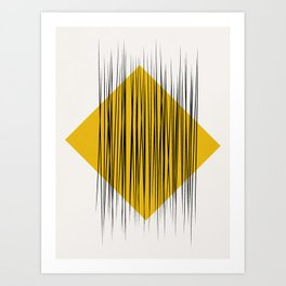 Abstract lines and geometric shape Art Print