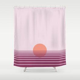 Pink sunset print - Girls Gang Prints Shower Curtain