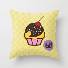Muffin - CosmoLOL!icious Throw Pillow
