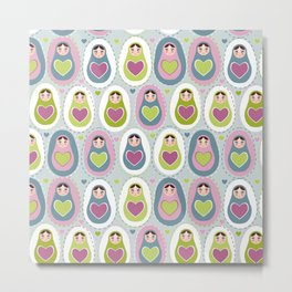 matryoshka with heart Metal Print