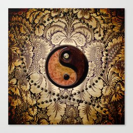 The sign ying and yang  Canvas Print