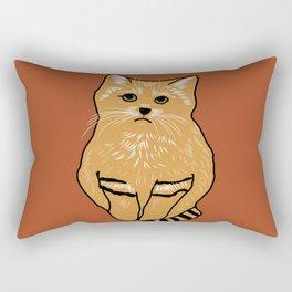 The peculiar sand cat Rectangular Pillow