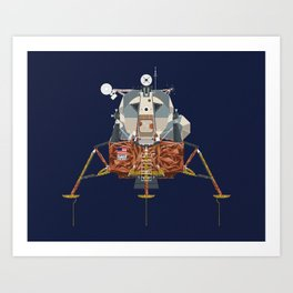 Apollo Lunar Module Art Print