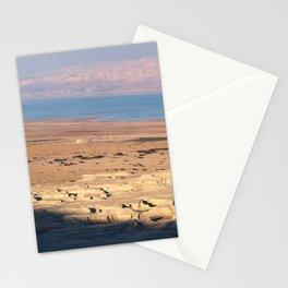 Dead Sea from Masada, Israel Stationery Cards