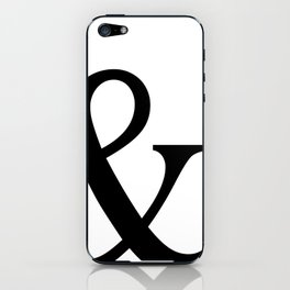 Typography, Ampersand, And Sign iPhone Skin