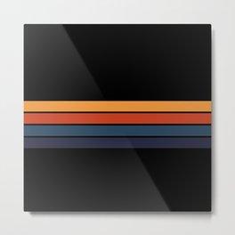 Classic Retro Stripes Design Metal Print