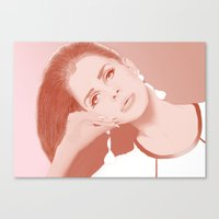 lana Canvas Prints featuring LANA by Itxaso Beistegui Illustrations
